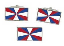 Royal Netherlands Navy (Koninklijke Marine) Flag Cufflinks and Tie Pin Set