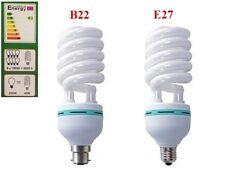 40W 8000K Bombilla CFL Espiral lámpara fría luz del día B22 E27 Ahorrador De Energía