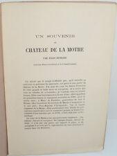 Un souvenir du Château de La Mothe, par Jules Richard - vers 1860