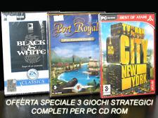 GIOCHI PC BLACK E WHITE + PORT ROYALE ORO POTERE E PIRATI+ TYCOON CITY NEW YORK