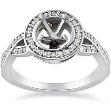 1/4ct Diamond Halo Infinity Engagement Ring Semi Mount 14K White Gold