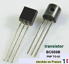 Transistor BC559B ou BC559 polarité PNP , boitier TO-92 , 30V 0.1A . C35.3