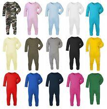 100% Cotton BABY BOY/GIRL Plain Chest Babygrow Bodysuit Sleepsuit Rompersuit