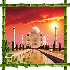 Sticker mural déco trompe l'oeil Taj Mahal réf 929