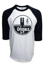 THE SPECIALS 2 TONE BASEBALL TEE 3/4 SLEEVE RAGLAN JERSEY MEN'S.
