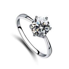 Six-prong Classic Solitaire Ring 1 carat Bridal CZ Cubic Zirconia - CRYSTALA