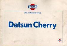 DATSUN  CHERRY Betriebsanleitung 1978 Bedienungsanleitung N10 Bordbuch BA