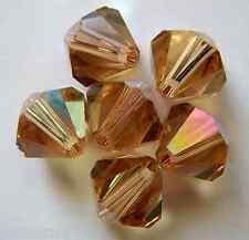 5 6mm Swarovski Crystal Bicones-Lt.Color.Topaz AB(Please read item description)