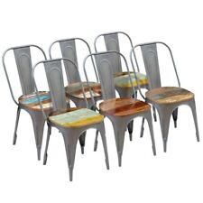 vidaXL 2/4/6x Sillas Salón Comedor Estilo Vintage Madera Reciclada Multicolor