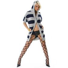 Damen Kaputzen Strickjacke Longjacke Cardigan Hoodie grau blau Gr.36 38