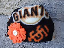San Francisco Giants MLB Fleece Flower Hat - Newborn Baby, Children, Adult women