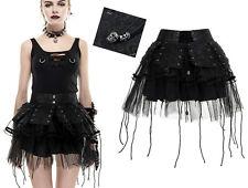Jupe jupon gothique lolita burlesque cuir vintage tulle laçages Japon Punkrave