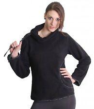 GOA Pullover in pile con collo alto in nero/Grigio
