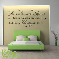 Amigos Son Como estrellas Frase En Una Calcamonía Mural - Salón Dormitorio