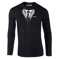Spy Suit Men's Long Sleeve T-shirt Funny Flip Joke Fancy Dress Up Gift Laugh