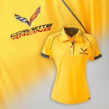 2014-2019 C7 Womens Hi Cool Polo Shirt with Corvette Racing Logo 637629