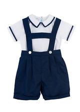Boys Feltman Brothers Navy & White Suspender Short Set NWT Toddler