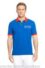 Nueva Hugo Boss diseñador Azul Italia Italia Paddy Fútbol Golf Bandera Polo