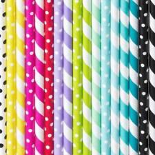 Trinkhalme Strohhalme Pappe Papier verschiedene Farben 10 Stück Party-Tisch-Deko