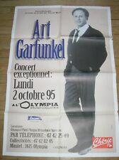 """AFFICHE DE """"ART GARFUNKEL"""" / CONCERT OLYMPIA 1995 / RARE / 80 X 120 / T BON ETAT"""