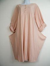 100% algodón de capas Look Vestido Con 2 bolsillos laterales 8 Cols