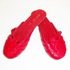 rote Damen Pantolette Sandale Schuhe Sweet Day Hausschuh slipper