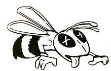 adesivo VESPA - BEE sticker decal vynil vinile vetro auto moto miele honey fiore