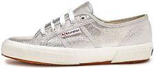 Superga 2750 Lamew Shoes in Glitter Silver 031