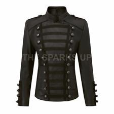 Olivia Palermo Napoleon Unifrom Style Black Women Leather Jacket - BIG SALE