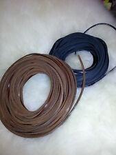 Cuero thonging Cordones De Cable 100% Cuero Genuino 25metre, 3 X 2.6 mm cuadrados