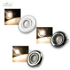 Foco Empotrado Conjunto Completo, Led Empotrado, 3 Diseños, Donwlight Reflector
