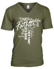 Father Words Pops Dadda Dad Daddy Big Day Old Man Papi Bear Men's V-Neck T-Shirt