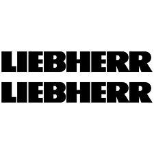2 x LIEBHERR 98cm x 13,3cm aufkleber sticker bagger excavator