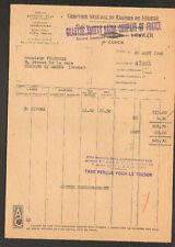 """PARIS (XIX°) USINE de LAMES de RASOIR """"GILLETTE SAFETY RAZOR Company"""" en 1946"""