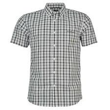 ✔ PIERRE CARDIN Herren kurzarm Hemd Weiß Schwarz kariert Polo T-Shirt Herrenhemd