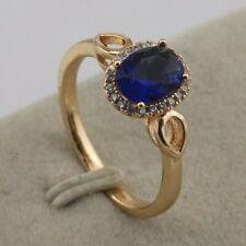 Size 5 6 7 Stylish London Blue Sapphire Fashion Jewelry Gold Filled Ring rj2092