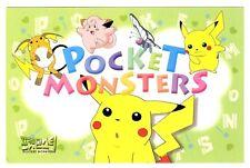 POKEMON POST CARD, CARTE POSTALE, POCKET MONSTERS 1999 PIKACHU N° #03