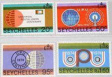 SEYCHELLES SEYCHELLEN 1974 322-25 317-20 100 Ann UPU Weltpostverein Globus MNH