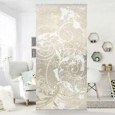 Raumteiler Perlmutt Ornament Design 250x120cm Vorhang Flächenvorhang mit Motiv