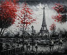 knife Paris Eiffel Tower Urban Street Oil Painting Art Canvas Home Decor J2098