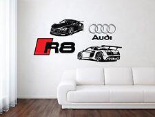 Audi R8 Sport Racing Front Car Wall Decal Art Mural Vinyl Sticker