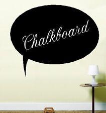 Round Speach Bubble Chalkboard Stick On Chalk Board Vinyl Sticker Wall Art Oval