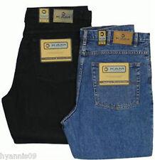 Kam King/Big Sizes Mens Stonewash Denim & Black Jeans  W 40 upto W 70 L30 32 34