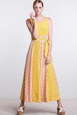 NWT 4 Anthropologie Hummingbird Silk Maxi Dress By Charlotte Taylor GorgeousRARE