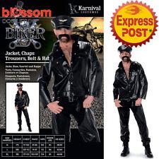 CA239 Biker YMCA 70/80's Retro Stag Do Fancy Dress Mens Costume