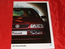 "VW Passat ""Family"" Sondermodell Prospekt von 1994"