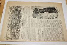 [BTR] LA MODE ILLUSTREE ANNO 1890 NUMERO 8 MANTEAU DE PRINTEMPS