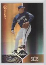 2004 Leaf Limited Spotlight Bronze 15 Ben Sheets Milwaukee Brewers Baseball Card