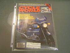 Cycle World Magazine November 1985 Amazonas Honda VFR 750