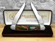 Case Xx Engraved Bolster Series Rain Forest Corelon Muskrat Pocket Knives Knife